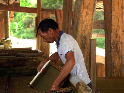香纸沟古法造纸